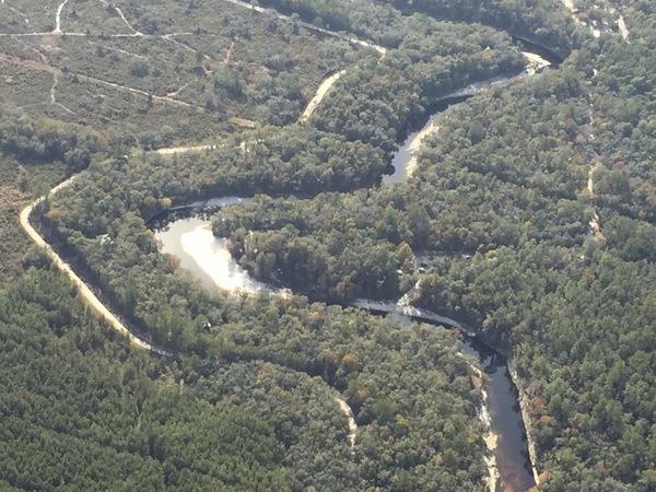 SSE to Suwannee Canoe Outpost, Slide on River,