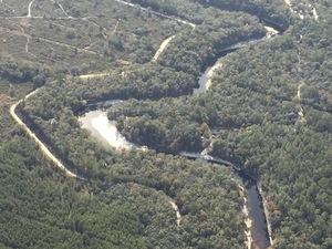 SSE to Suwannee Canoe Outpost, Slide on River, 30.4164194, -82.9531333