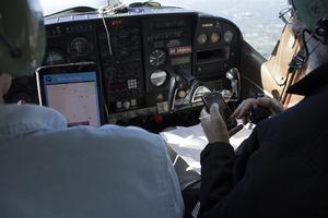 In flight cockpit