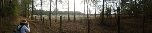 Panorama, Sabal Trail pipe going into ground, Hamilton County, 30.4113889, -83.1652778