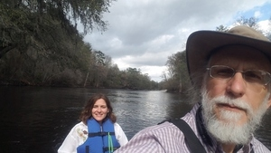Megan on the Suwannee 30.4130556, -83.1588889