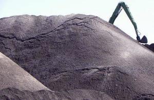 Pile of coal ash