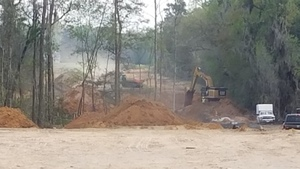 Sabal Trail digging south of Knights Ferry Road, 30.7483333, -83.4016667