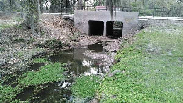 Box culvert over One Mile Creek