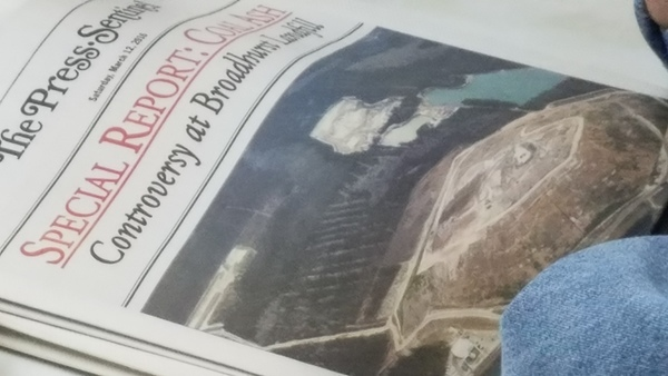 Controversy at Broadhurst Landfill, The Press-Sentinel, 12 March 2016