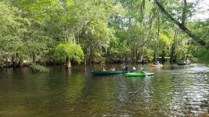 Three in a canoe 31.1924639, -83.5218527