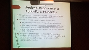 Regional Importance of Agricultural Pesticides --Tom Potter