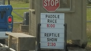 Paddle Race 8:00 (Reptile Show 2:30) 31.1672222, -83.5491667
