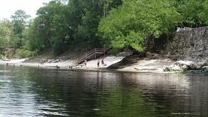 Looking upstream at Suwannee Springs, 30.3947638, -82.9347537