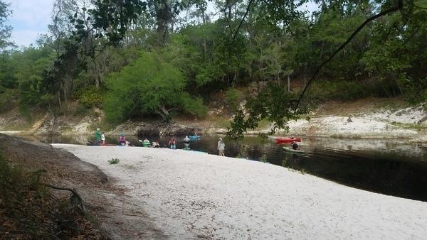 Starting to paddle,