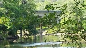 Zoomed downstream to US 84 bridge