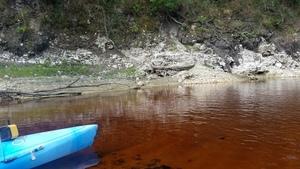 Orange-red water, 30.3655500, -82.8770800