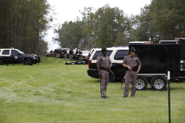 Row of Florida state trooper vehicles