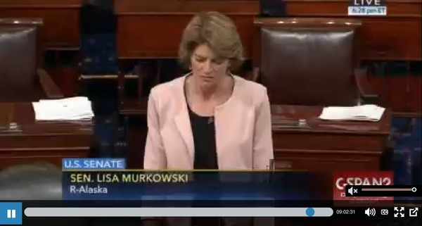 Sen. Murkowski asks for en bloc vote with no intervening action or debate