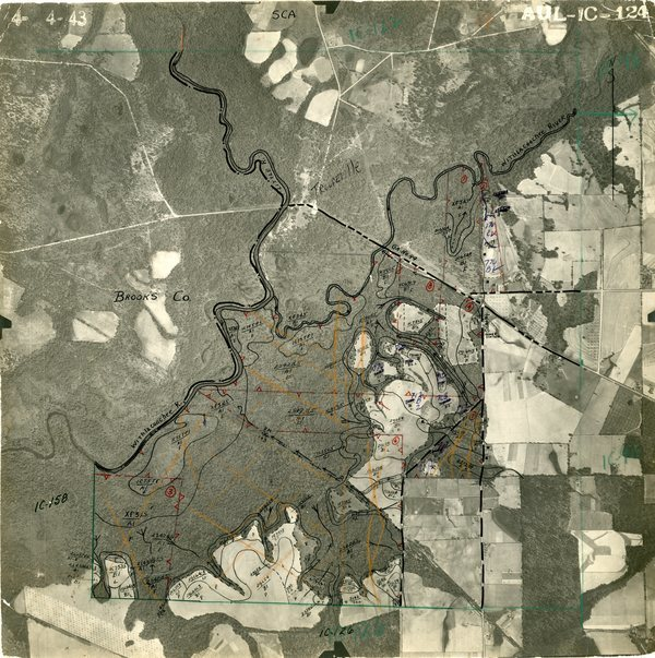 [1943 Troupville aerial before I-75]