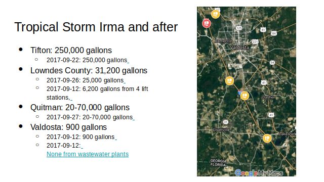 Tropical Storm Irma and after in Georgia