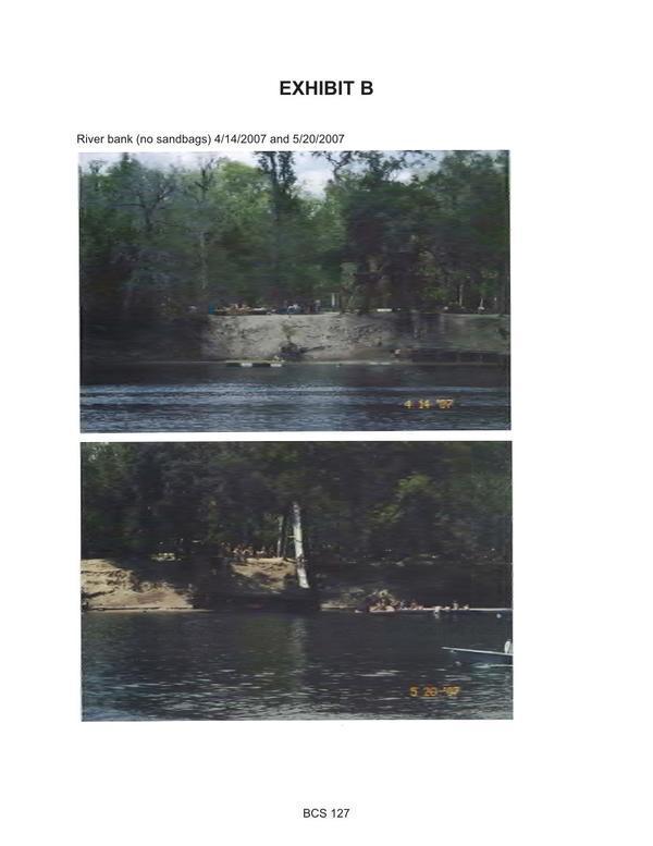 [River bank (no sandbags) 4/14/2007 and 5/20/2007]