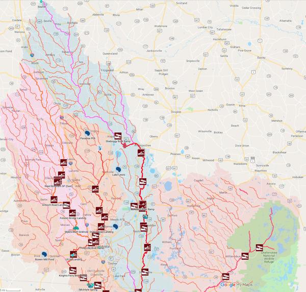 [Georgia landings in Suwannee River Basin]