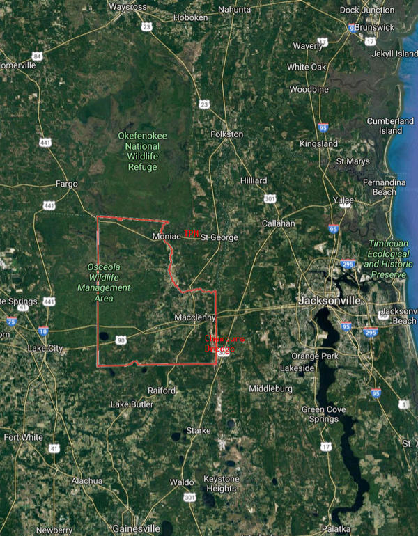 [N-S: Waycross to Lake City]