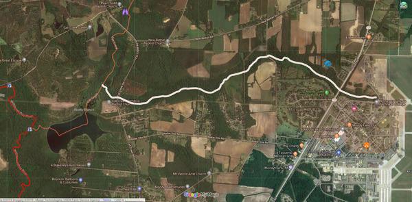 [Cat Creek downstream of Beatty Branch]