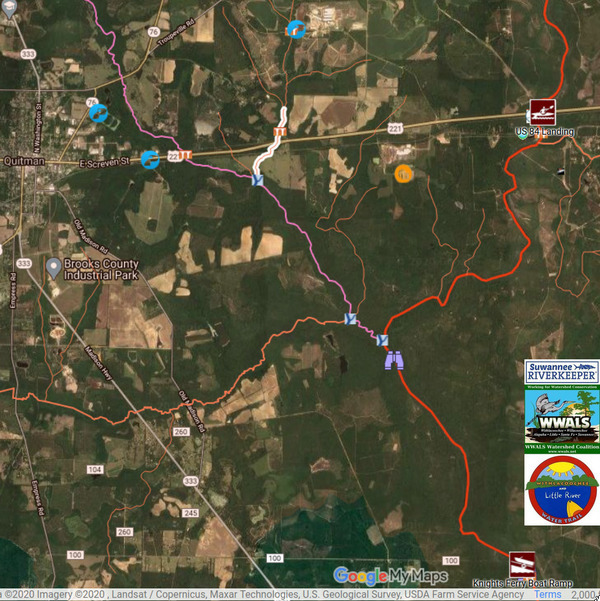 [Map: Crooked Creek, Okapilco Creek, Withlacoochee River]