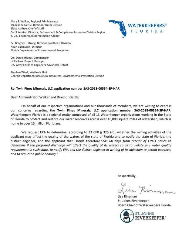 [WKFL Letter to EPA]