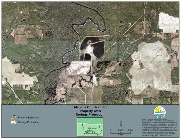 [Alapaha CE (Bearden) Property Offer, Springs Protection]
