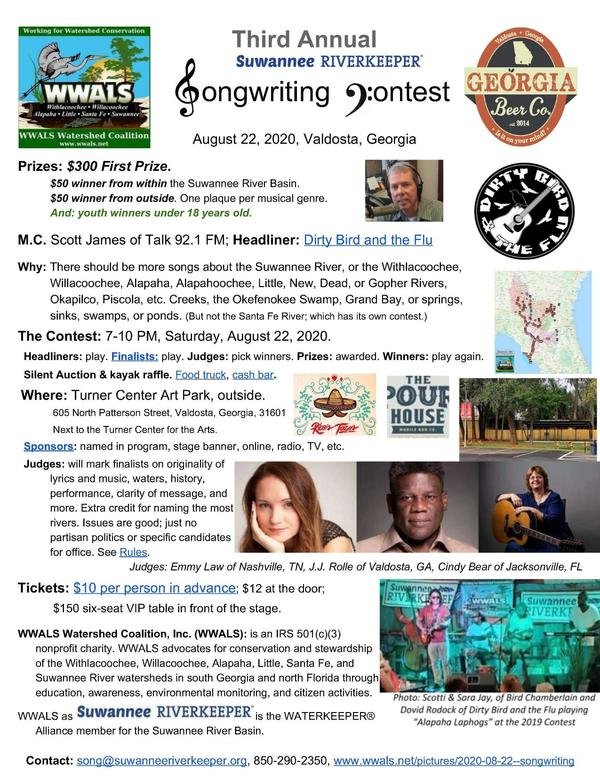 [Suwannee Riverkeeper Songwriting Contest 2020]