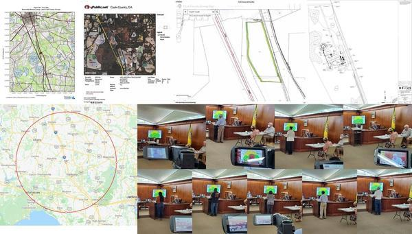 [Maps and speakers, wood pellet plant, Adel City Council 2020-09-08]