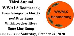 WWALS Boomerang paddle race from Georgia Into Florida and Back, Withlacoochee River, 24 October 2020