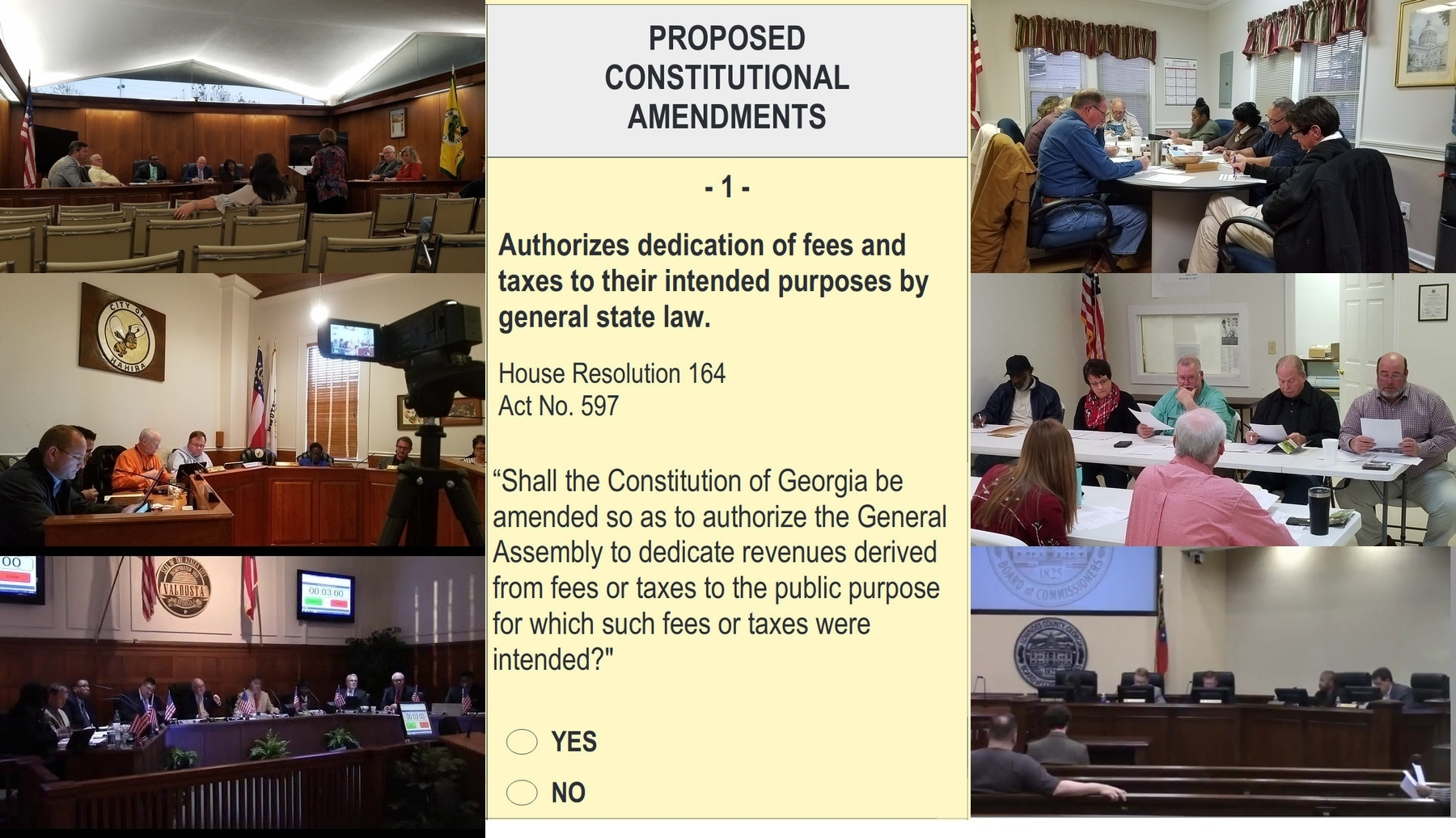 [Six cities and counties for Amendment 1]