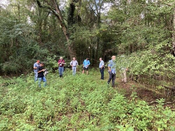 [Chad McLeod (Lowndes County), Mark Gaither (Disc Golf), John S. Quarterman (Suwannee Riverkeeper), Tom Baird (Archaeologist), Jason Scarpate (ASA Engineering, Mac McCall (Architect), Tom H. Johnson Jr. (WWALS President), George Page (VLPRA)]