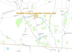 300x219 Knights Creek in Valdosta, in Knights Creek, Valdosta, Georgia, by USGS Streamer, for WWALS.net, 28 February 2015