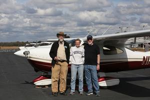 John S. Quarterman, Beth Gammie, E.M. Beck, plane, by Beth Gammie, 30.7834917, -83.2717289