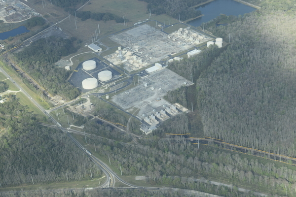 Begin Hunters Creek Pipeline at Reunion Compressor Station past Central FL Pipeline Corp.,