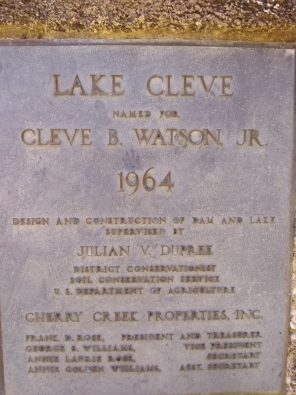 [Marker: Lake Cleve]