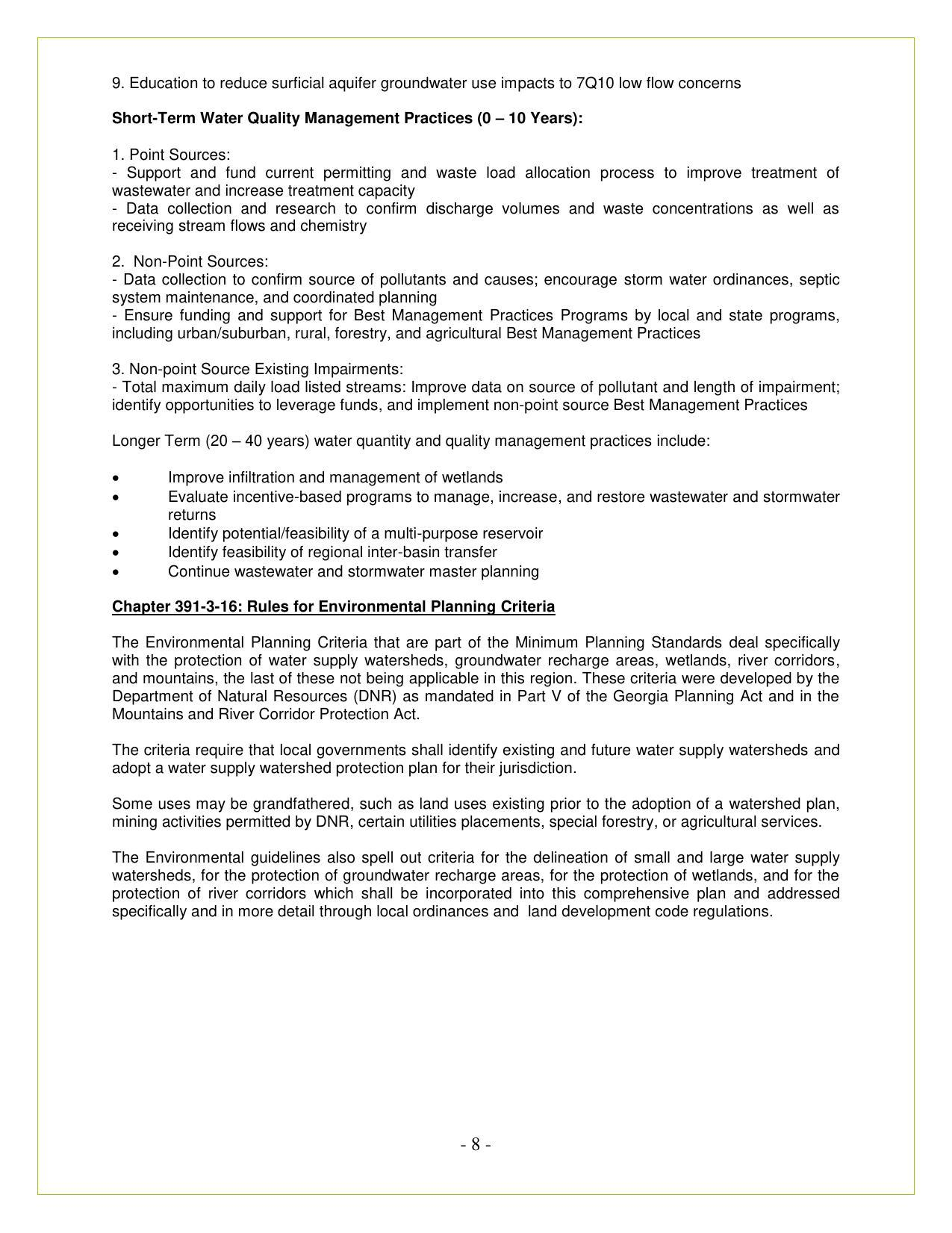 [Rules for Environmental Planning Criteria]