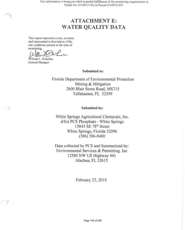 [Water Quality Data]