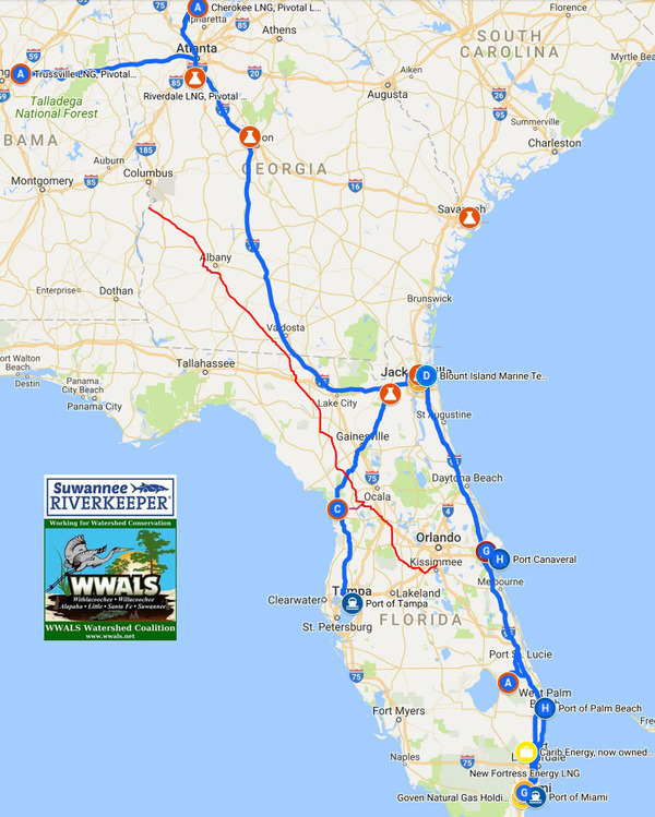 [WWALS LNG Export Map]