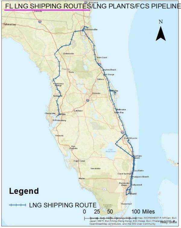 [FL LNG Shipping Routes]