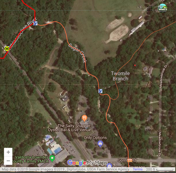 [Two Mile Branch near Sugar Creek]