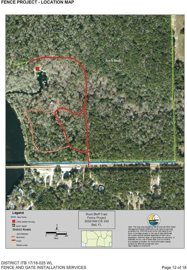 [Fence Project Location Map, Rock Bluff Tract]