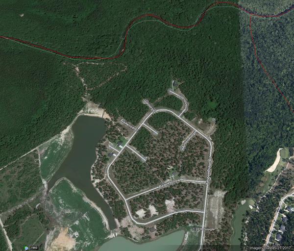 [Google Earth below Kinderlou]