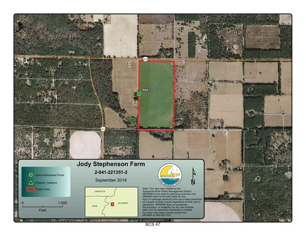 [Location Map, Jody Stephenson Farm, 2-041-221351-2]