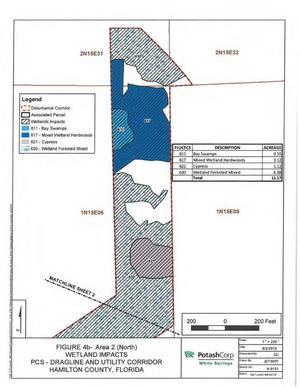 [Map: North Disturbance Corridor]