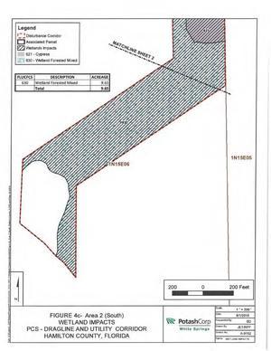 [Map: South Disturbance Corridor]