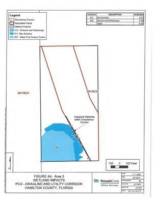 [Map: Area 3 Disturbance Corridor]
