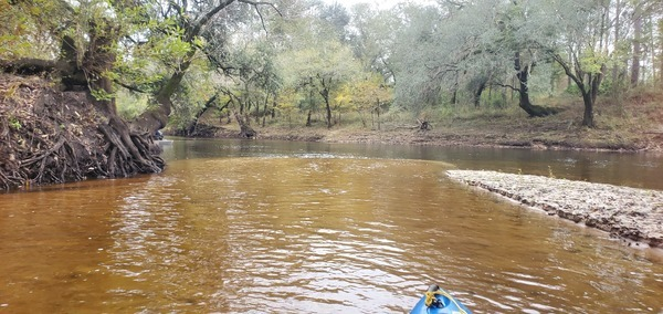 [Creek water meets river, 14:15:19, 30.6539368, -83.3625671]