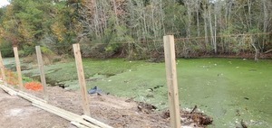 [Leveling fence posts]