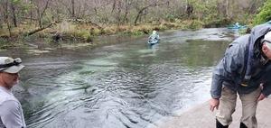[Heading downstream]